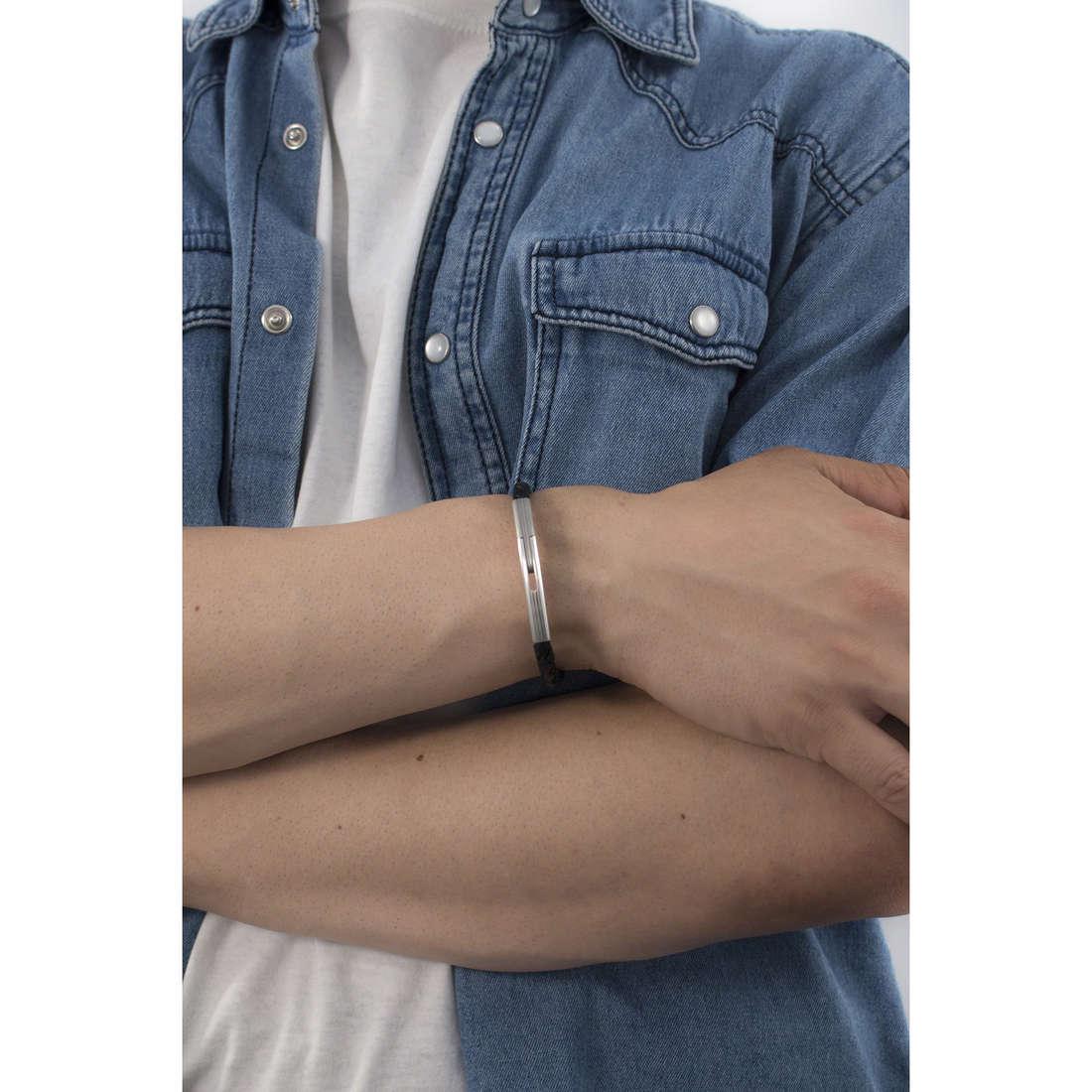 Brosway bracelets Tulum man BLM03C indosso