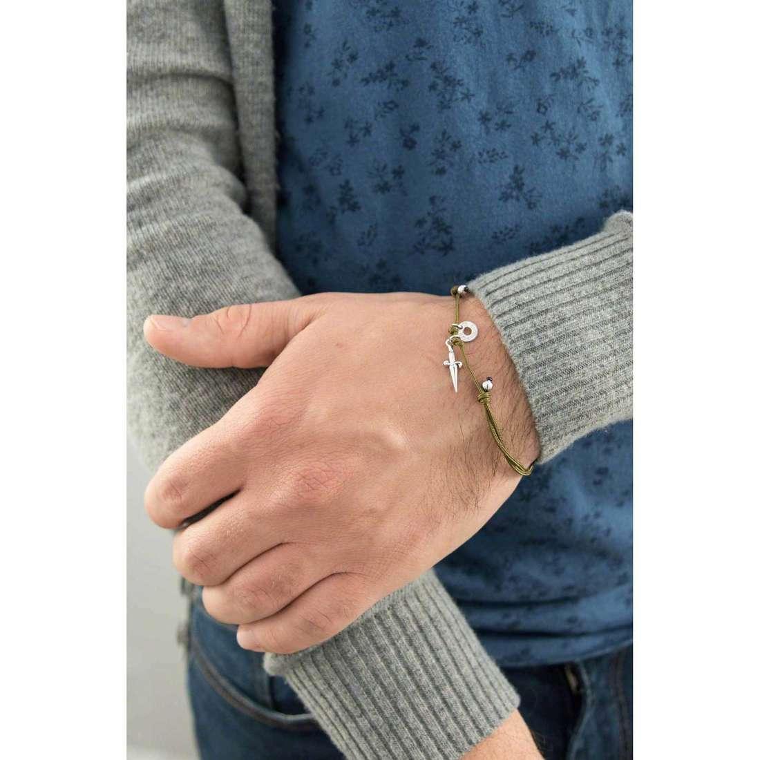Cesare Paciotti bracelets Circle Crop man JPBR1129B indosso