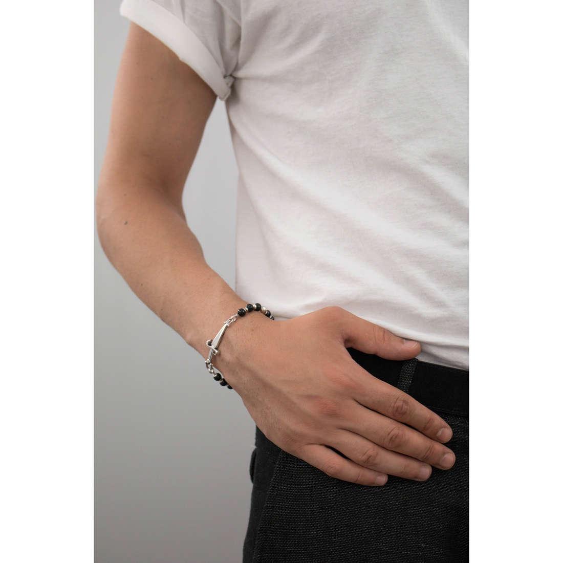 Cesare Paciotti bracelets man JPBR0209B indosso