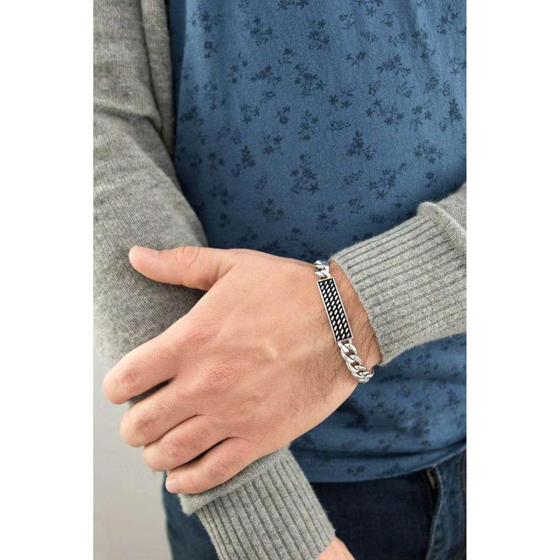 Cesare Paciotti bracelets man JPBR0984B indosso