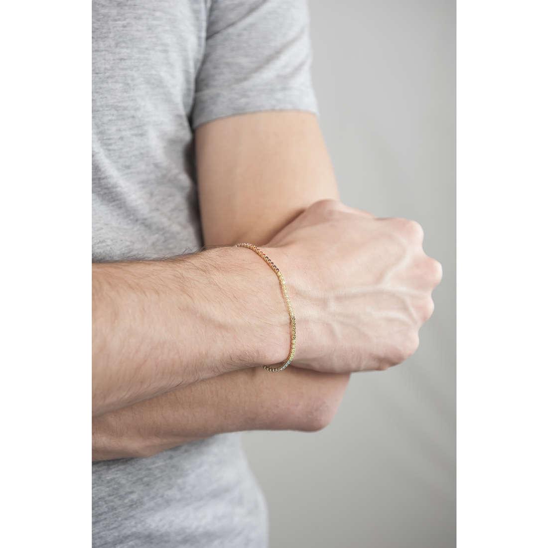 Cesare Paciotti bracelets man JPBR1235G indosso