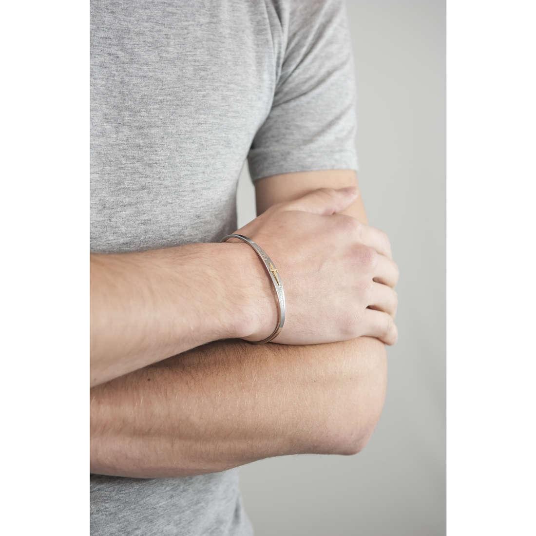 Cesare Paciotti bracelets man JPBR1263B indosso