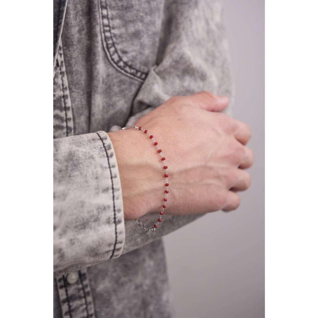 Cesare Paciotti bracelets Ornament man JPBR1120B indosso