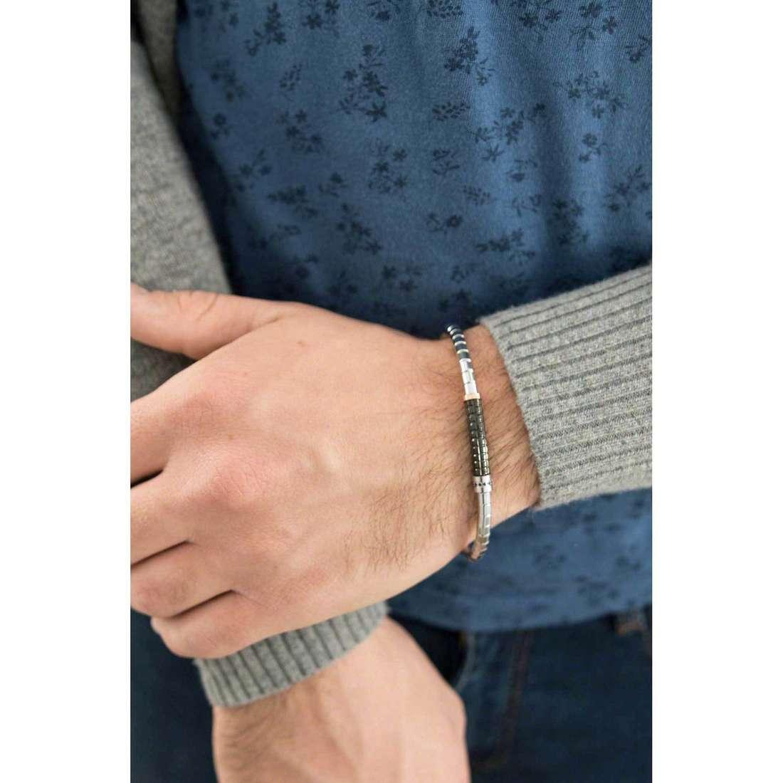 Comete bracelets Prestige man UBR 399 indosso