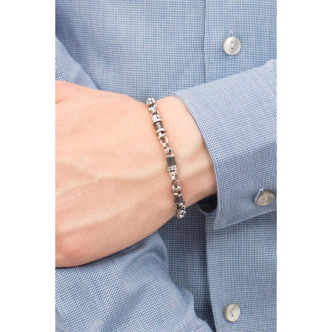 Comete bracelets Ceramic man UBR 772 indosso