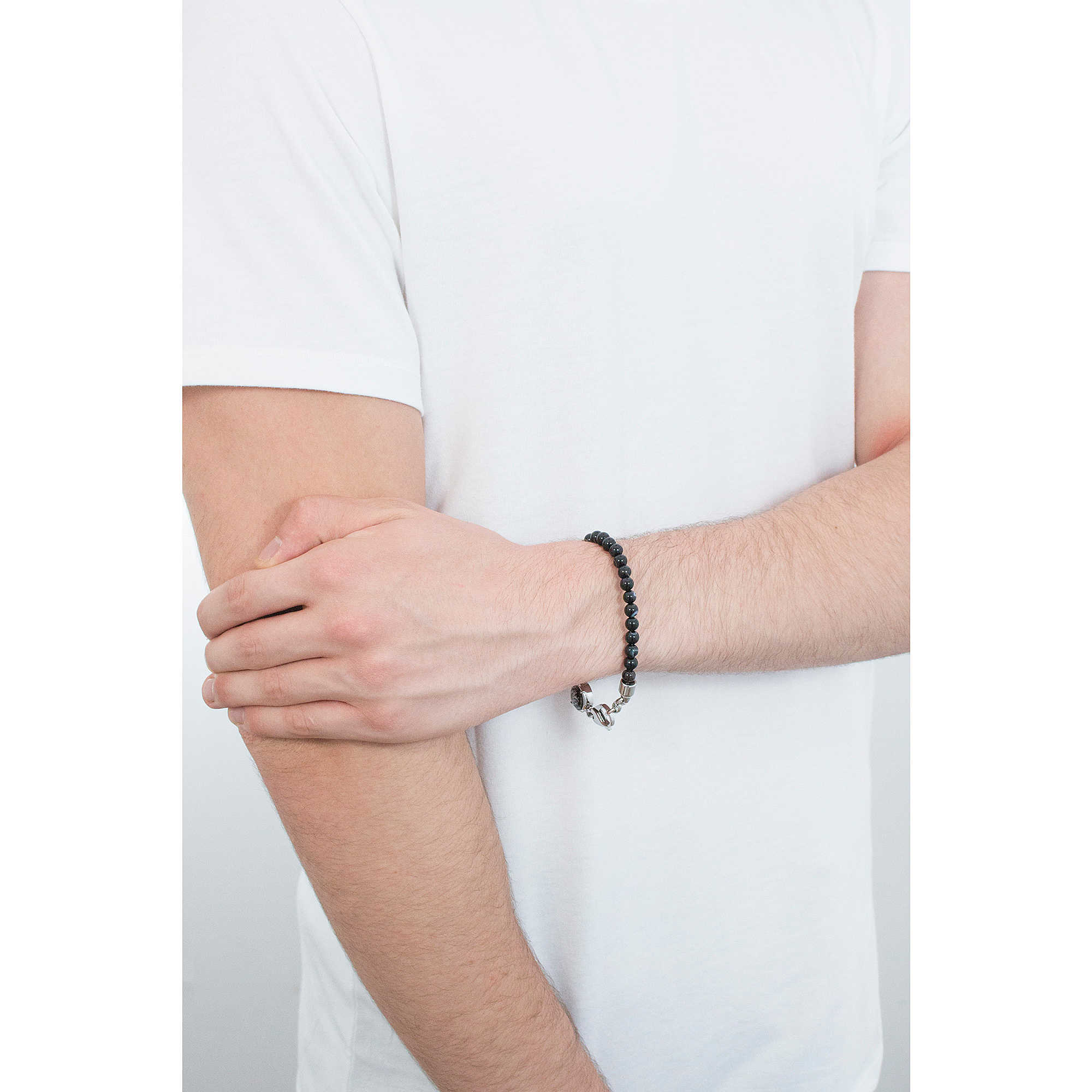 bracelet man jewellery Diesel Beads DX0848040. zoom. Diesel bracelets Beads  man DX0848040 photo wearing. zoom f319135744fa