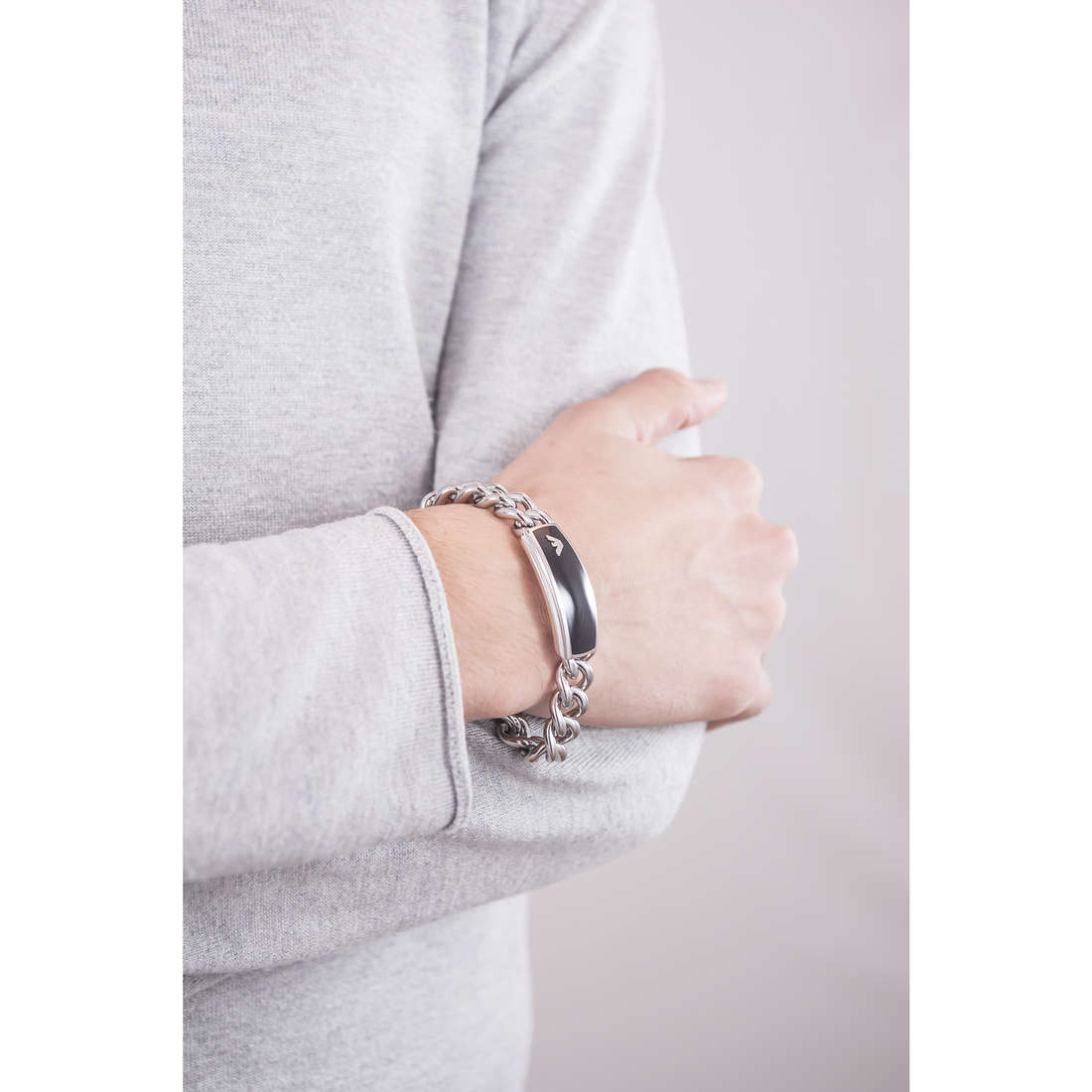 Emporio Armani bracelets man EGS172904019 indosso