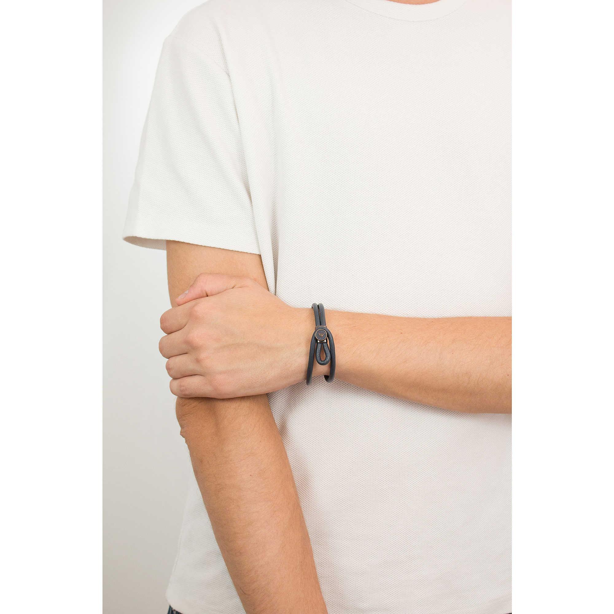 bracelet man jewellery Emporio Armani EGS2214020. zoom. Emporio Armani  bracelets man EGS2214020 photo wearing. zoom 2f724d4363e