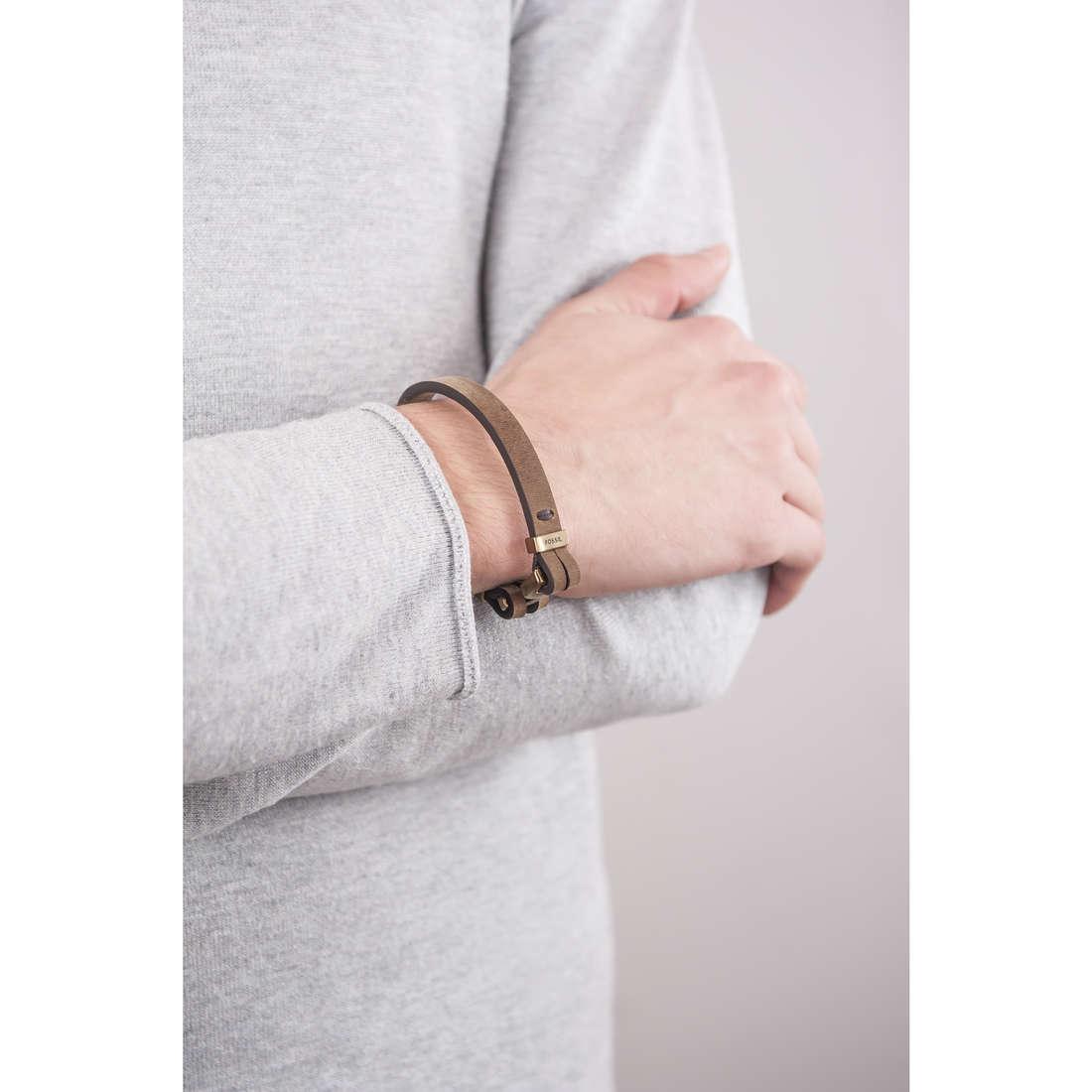 Fossil bracelets Summer 15 man JF01863710 indosso