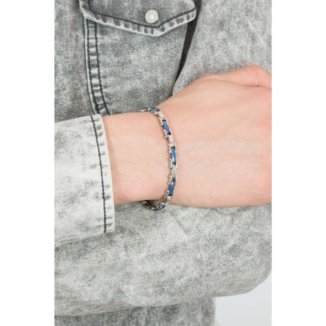 Luca Barra bracelets man LBBA447 photo wearing