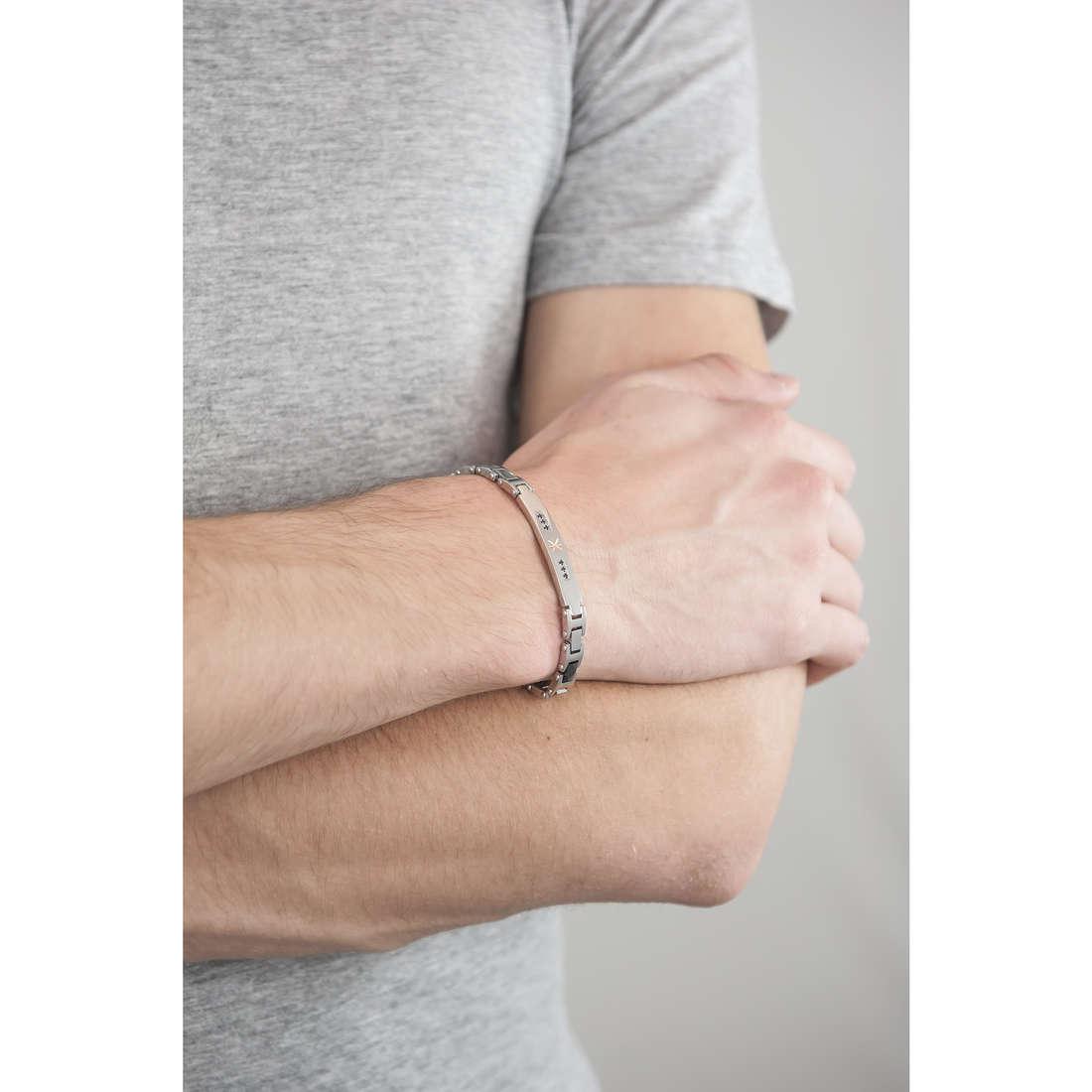Luca Barra bracelets man LBBA461 indosso