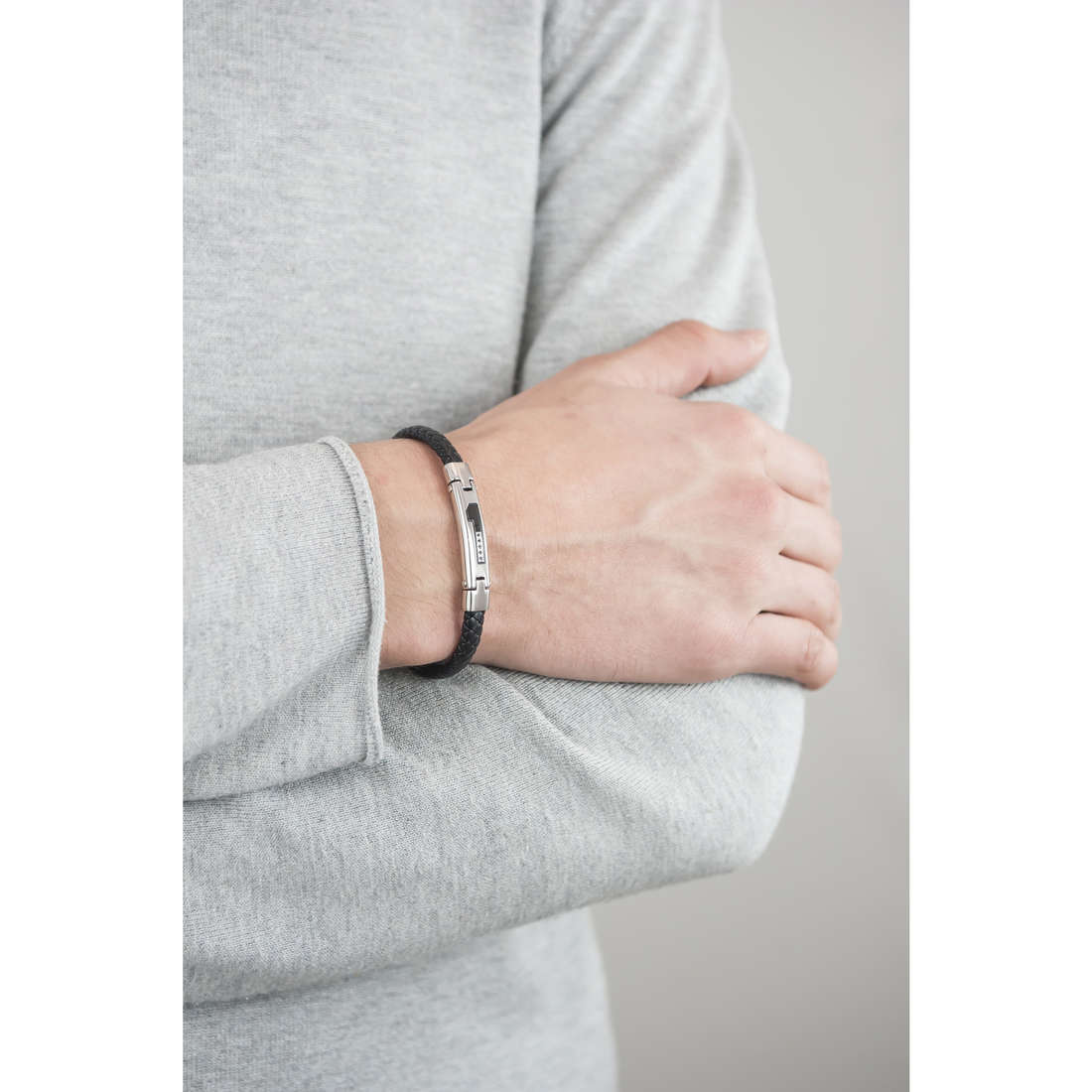 Luca Barra bracelets man LBBA487 indosso