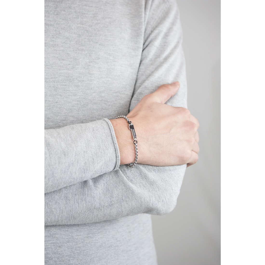 Luca Barra bracelets man LBBA489 indosso
