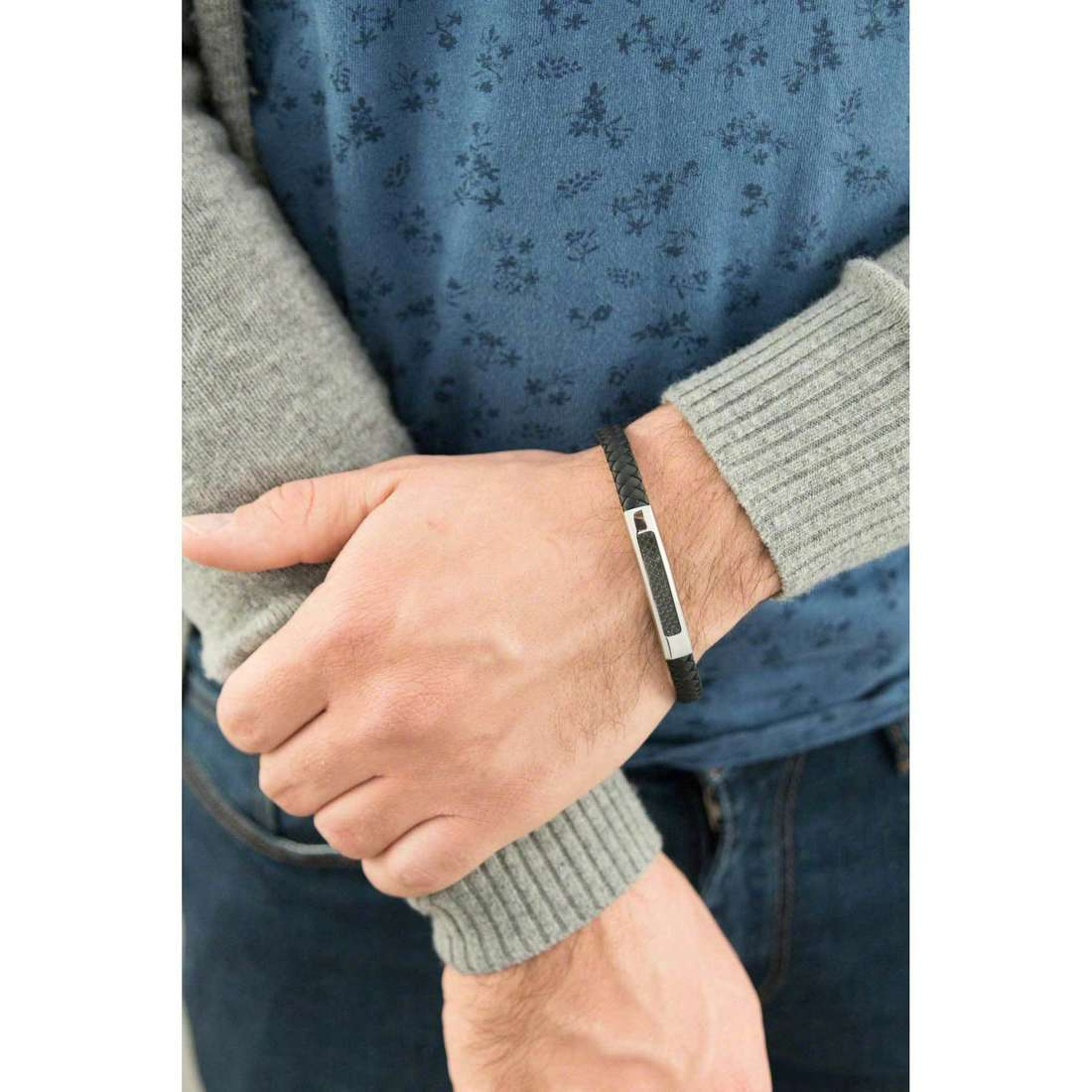 Luca Barra bracelets man LBBA535 indosso