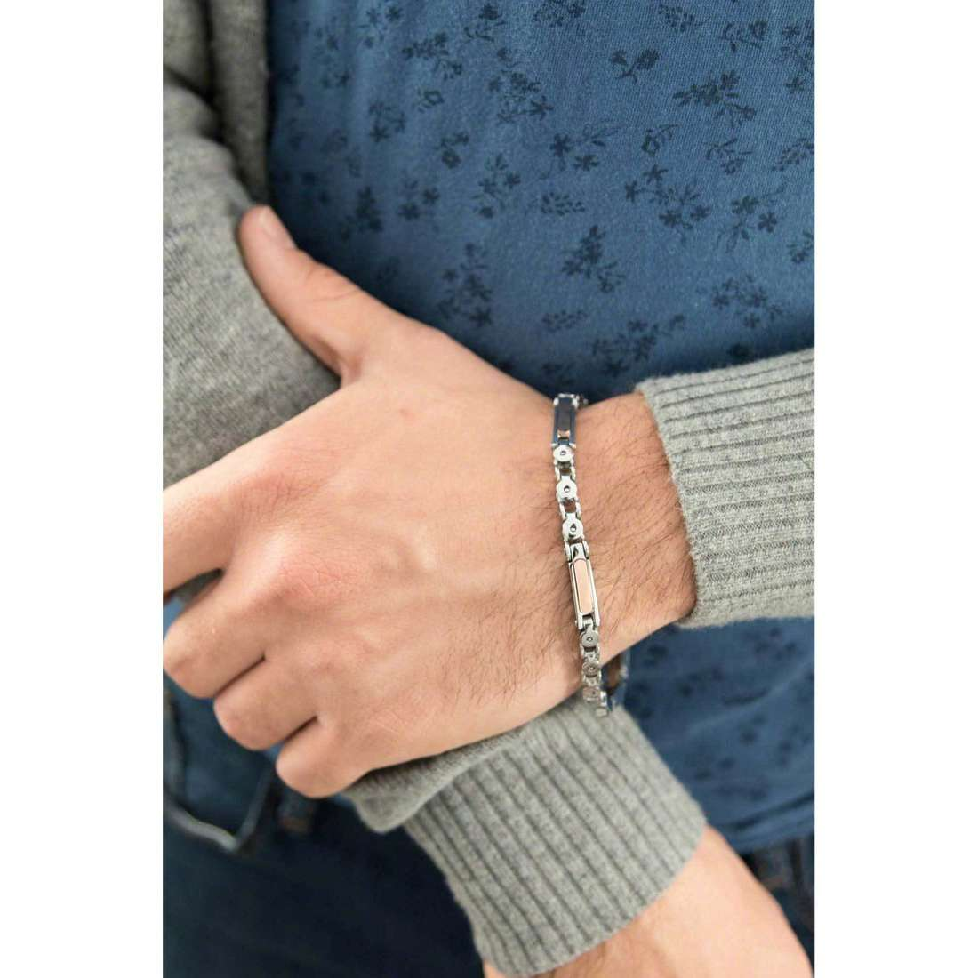 Luca Barra bracelets man LBBA537 photo wearing