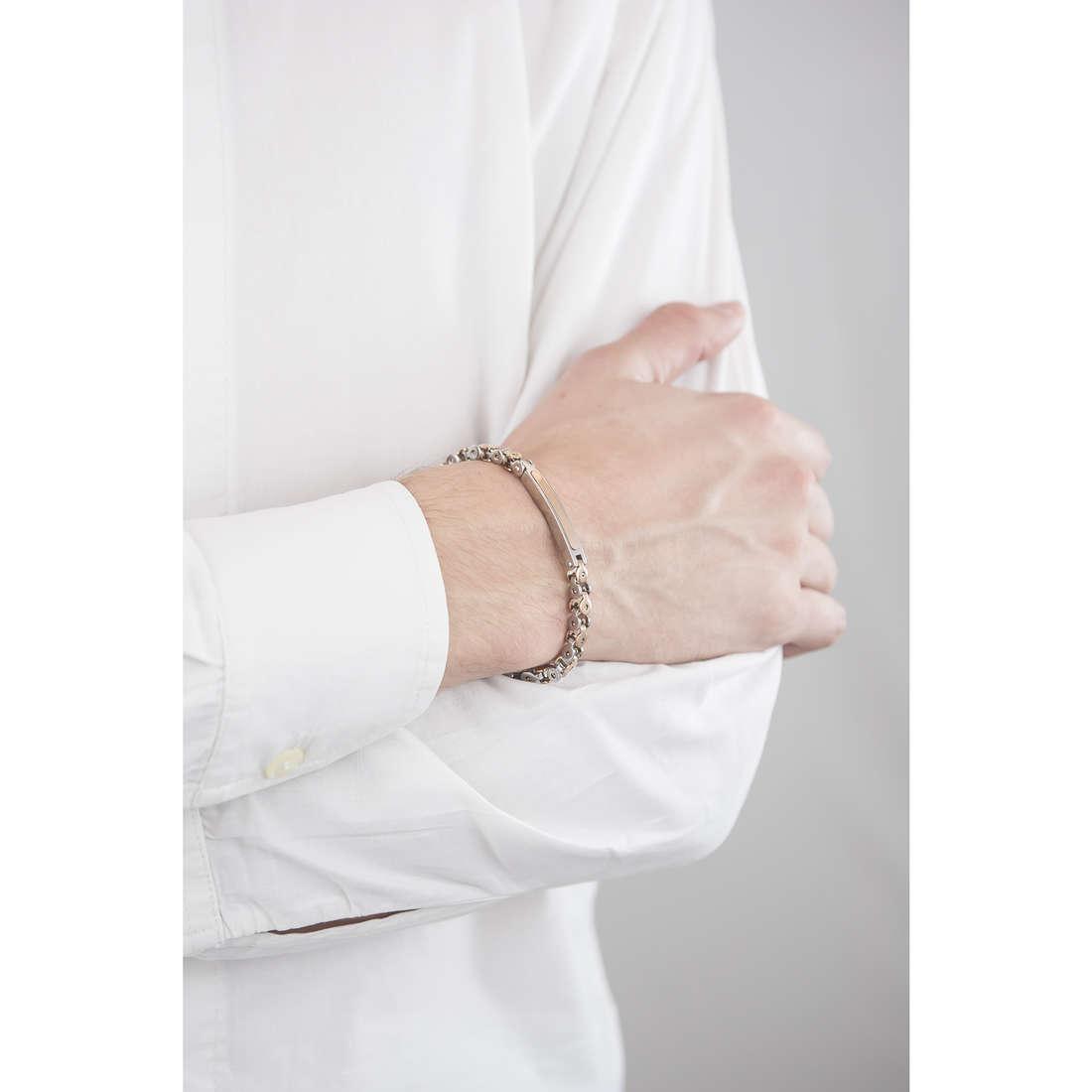 Luca Barra bracelets man LBBA538 indosso