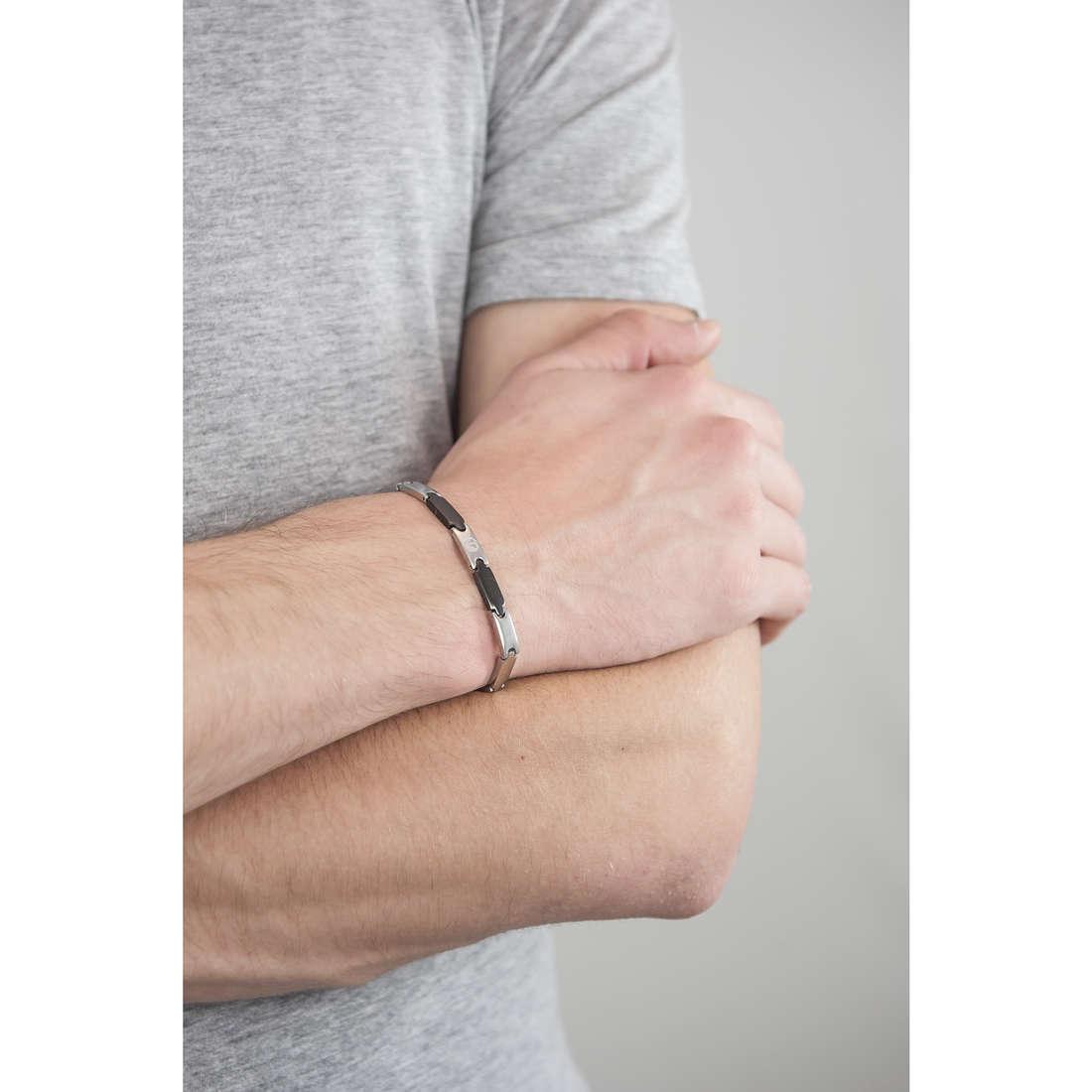 Luca Barra bracelets man LBBA552 indosso