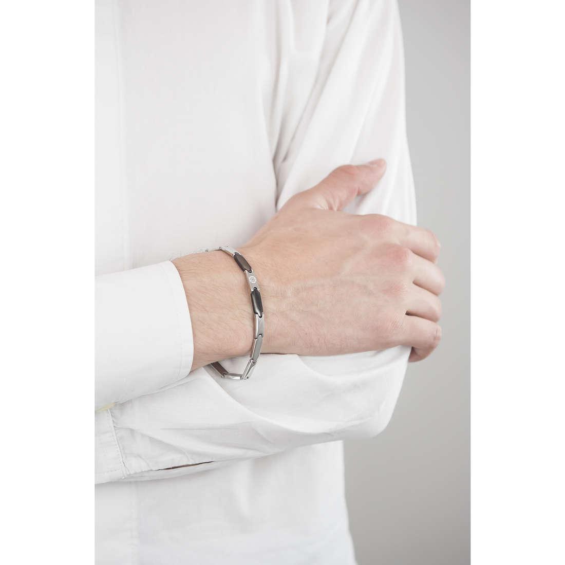 Luca Barra bracelets man LBBA553 indosso