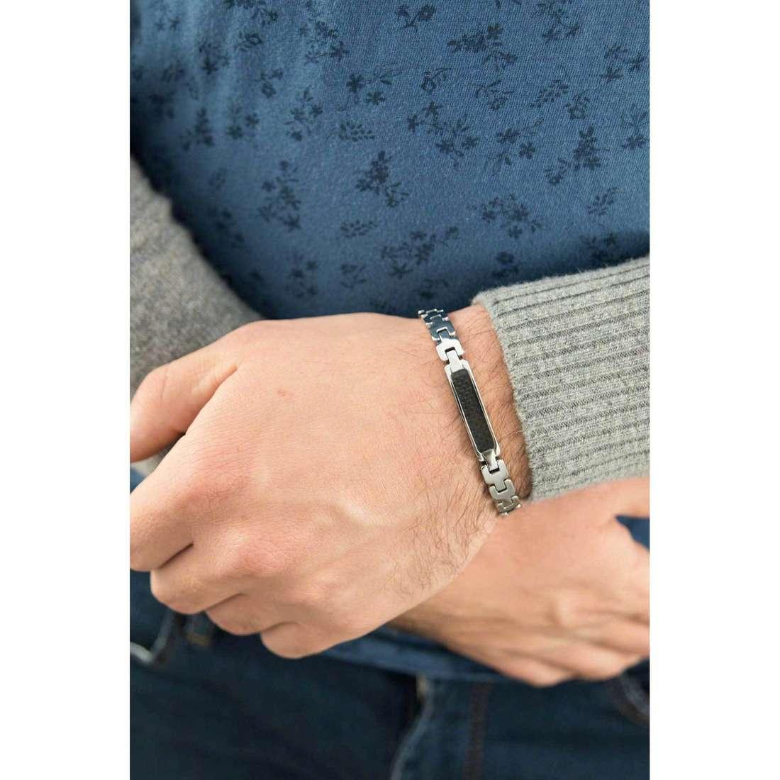 Luca Barra bracelets man LBBA561 indosso