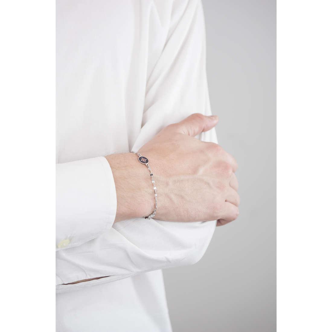 Luca Barra bracelets man LBBA566 indosso