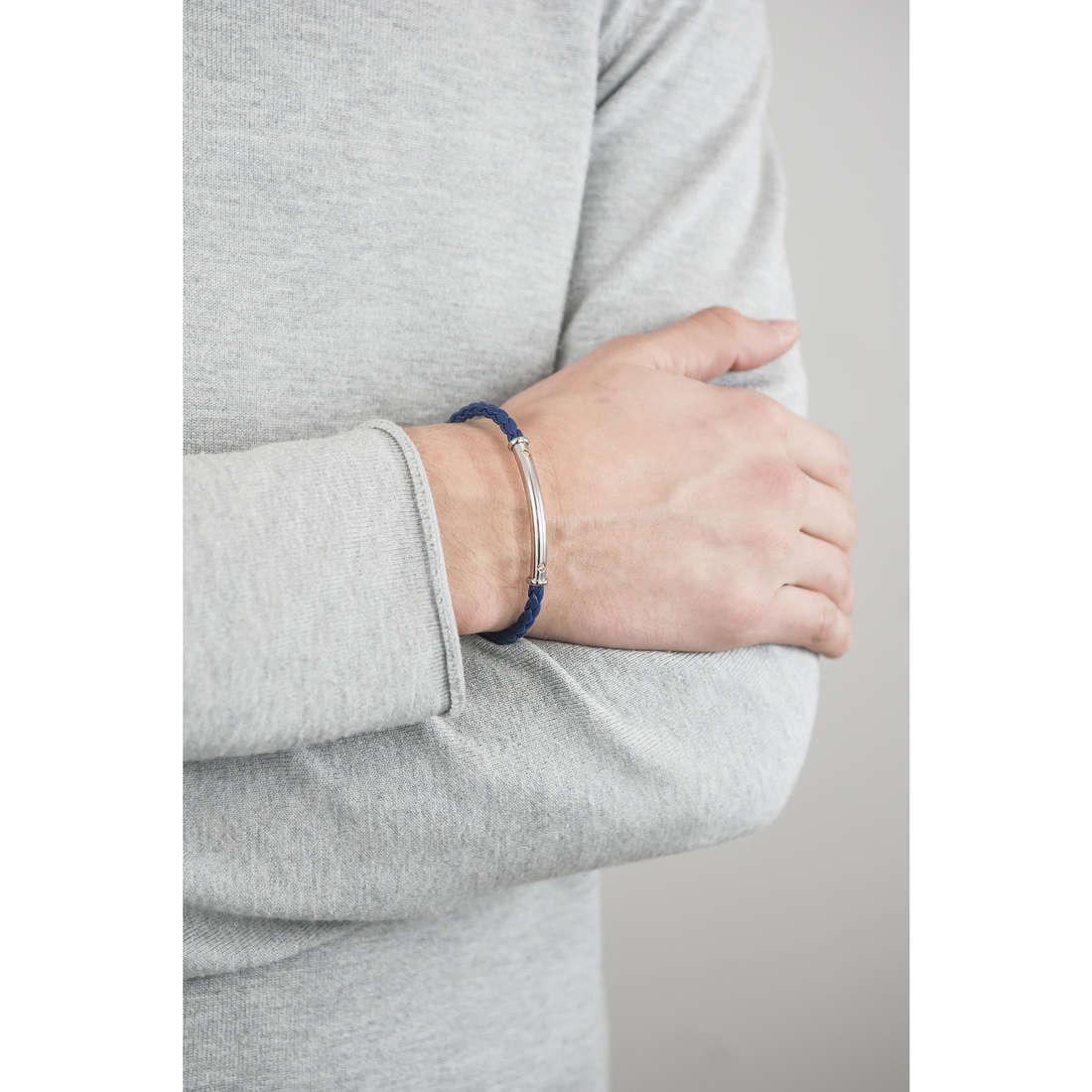 Luca Barra bracelets man LBBA580 indosso