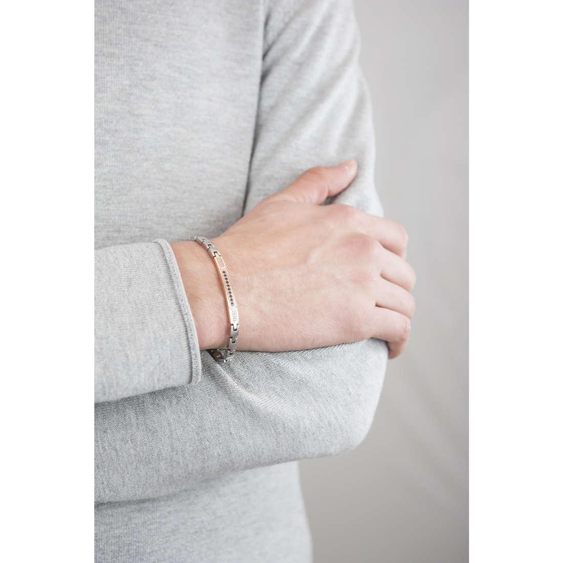 Luca Barra bracelets man LBBA606 indosso