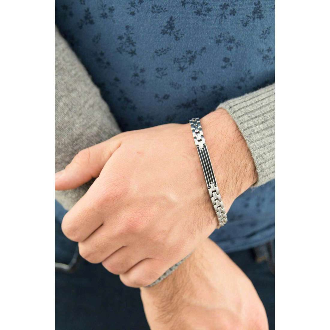 Luca Barra bracelets man LBBA623 indosso