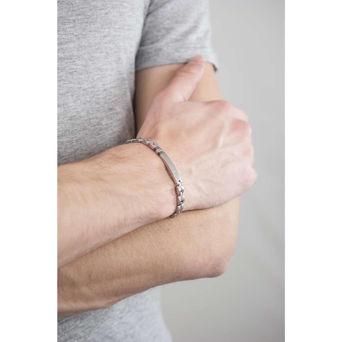 Luca Barra bracelets man LBBA628 indosso