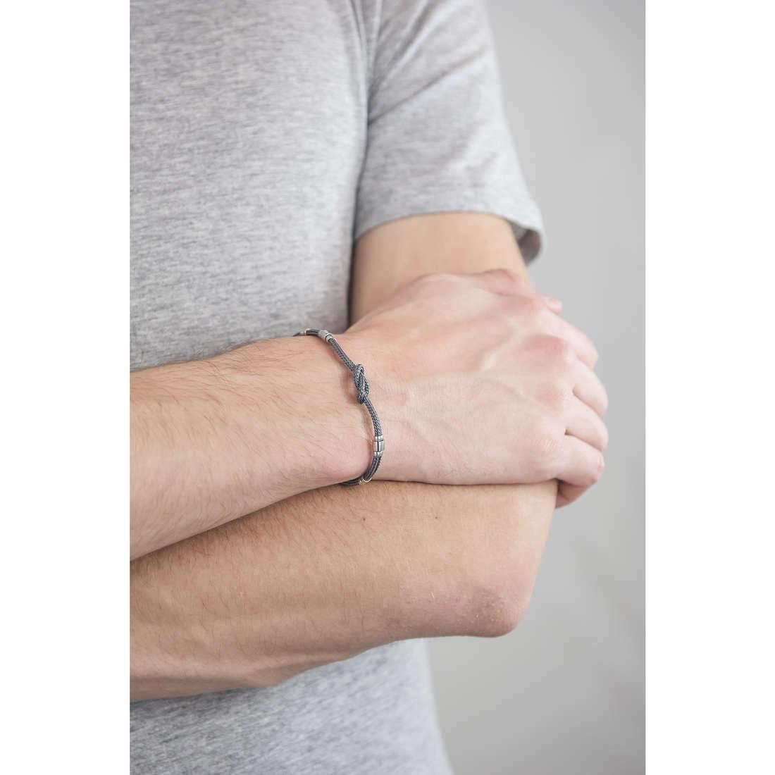 Luca Barra bracelets man LBBA690 indosso