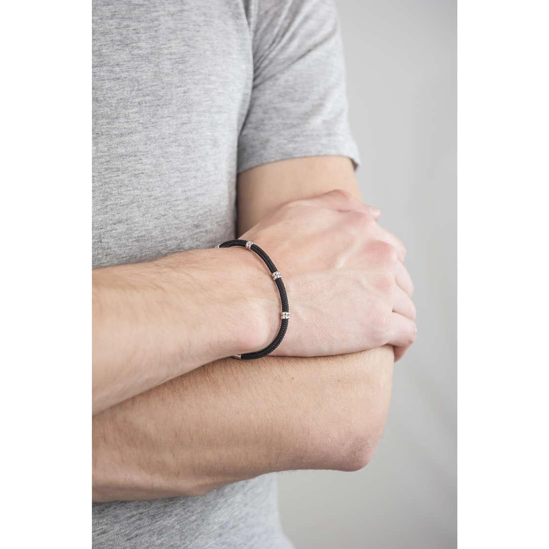 Luca Barra bracelets man LBBA693 indosso