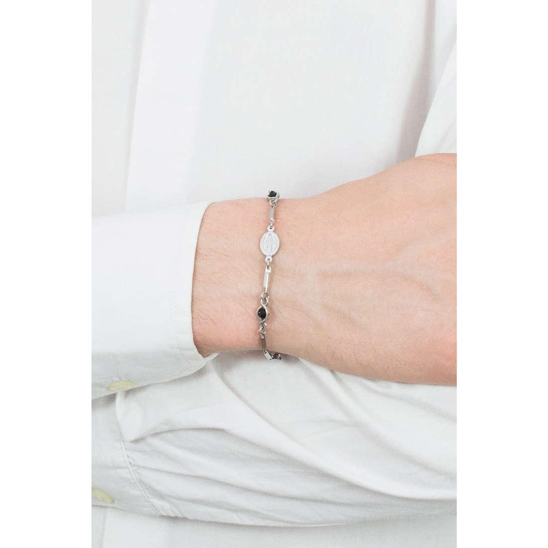 Luca Barra bracelets man LBBA708 indosso