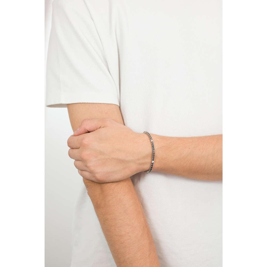 Luca Barra bracelets man LBBA739 indosso
