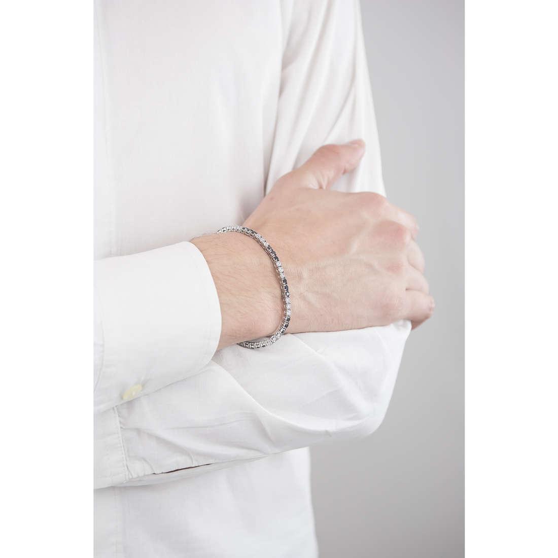 Luca Barra bracelets man LBBA740 indosso