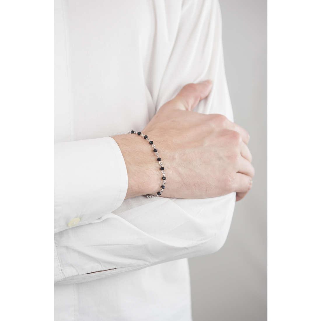 Luca Barra bracelets man LBBA744 indosso