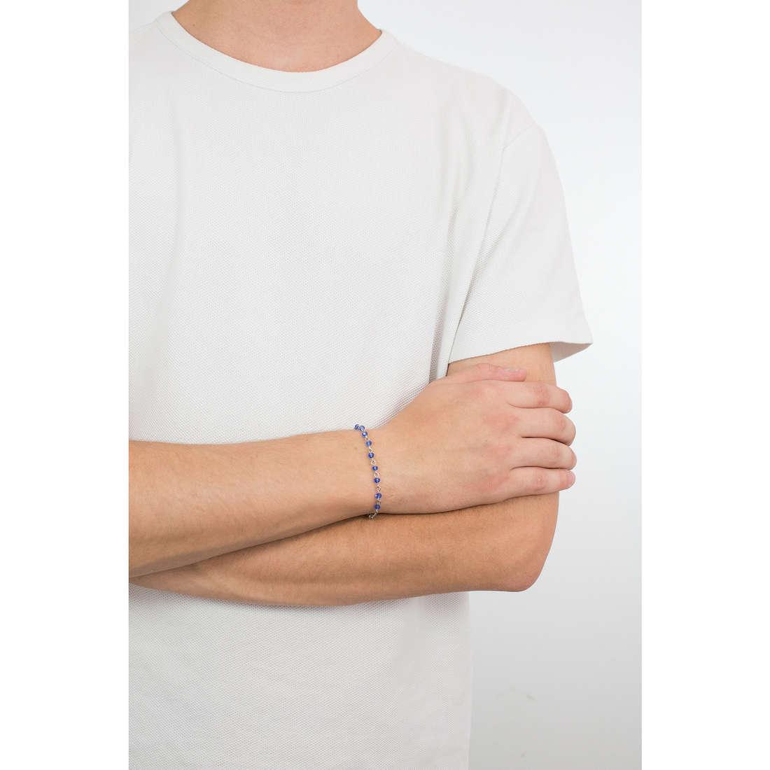 Luca Barra bracelets man LBBA745 indosso