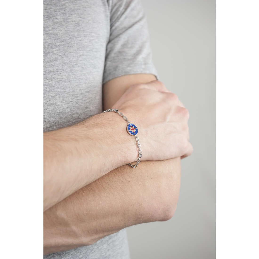 Luca Barra bracelets man LBBA758 indosso