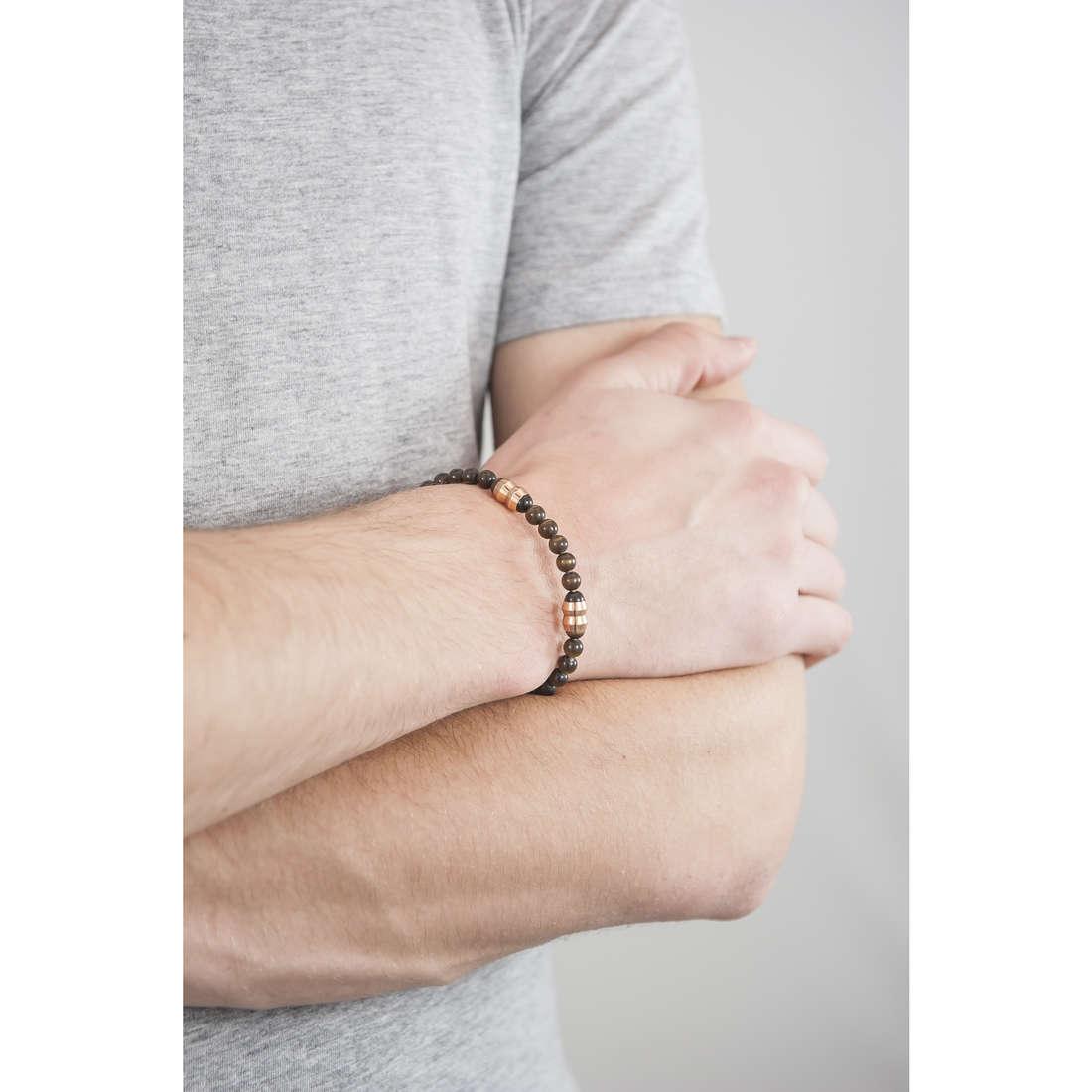 Morellato bracelets Boules man SACT03 indosso