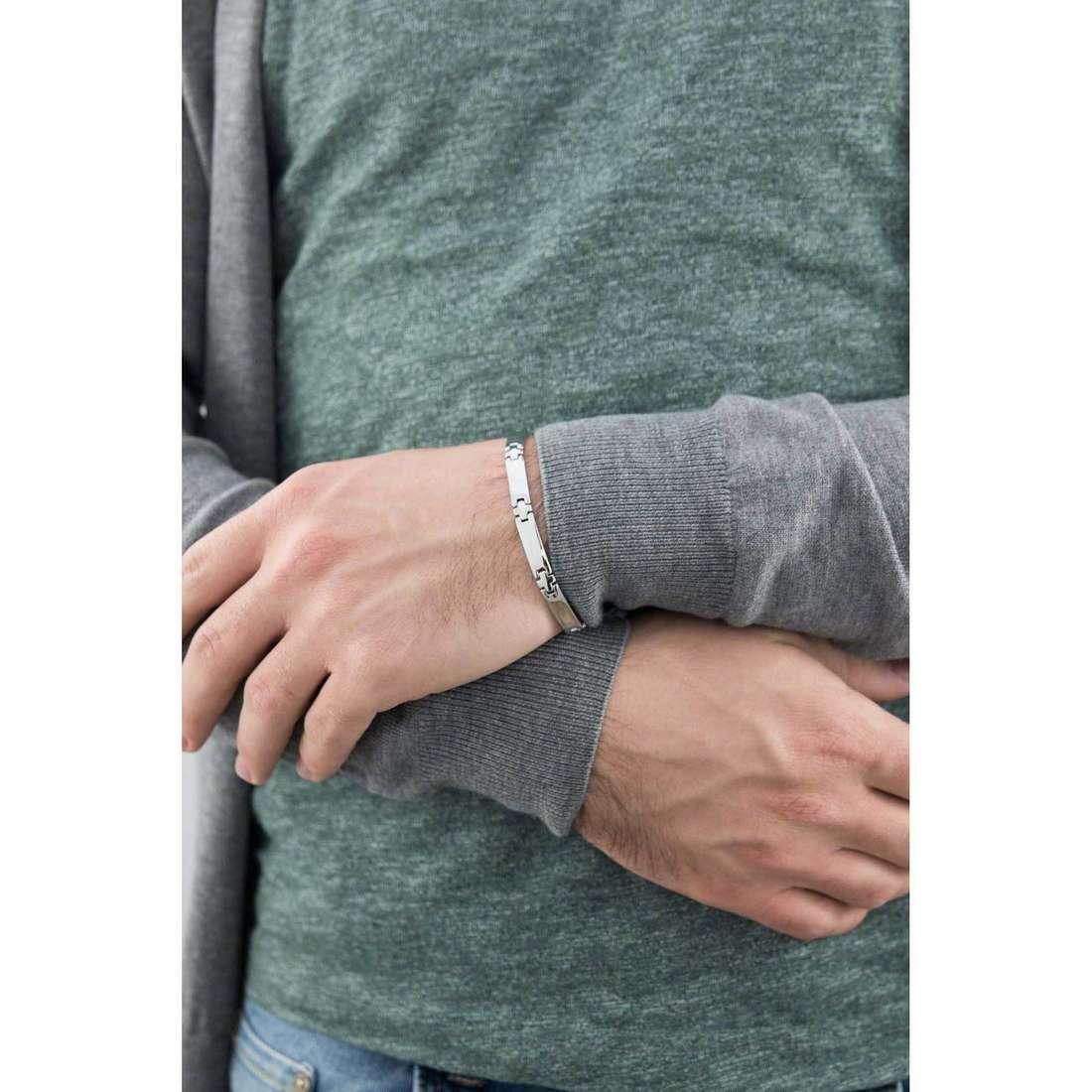 Morellato bracelets Cross man S7432099 indosso