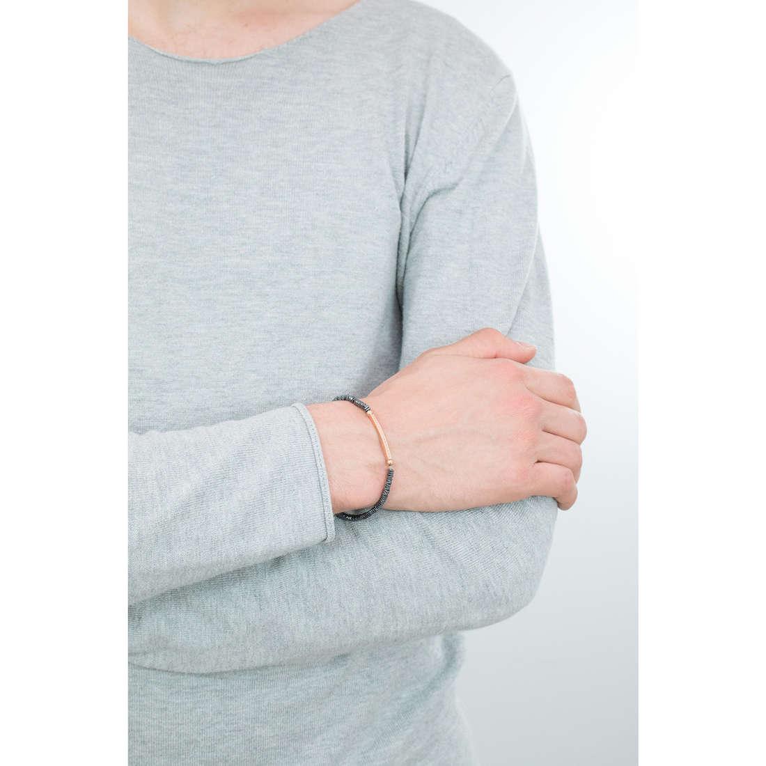Morellato bracelets Ematite man SAHT02 indosso