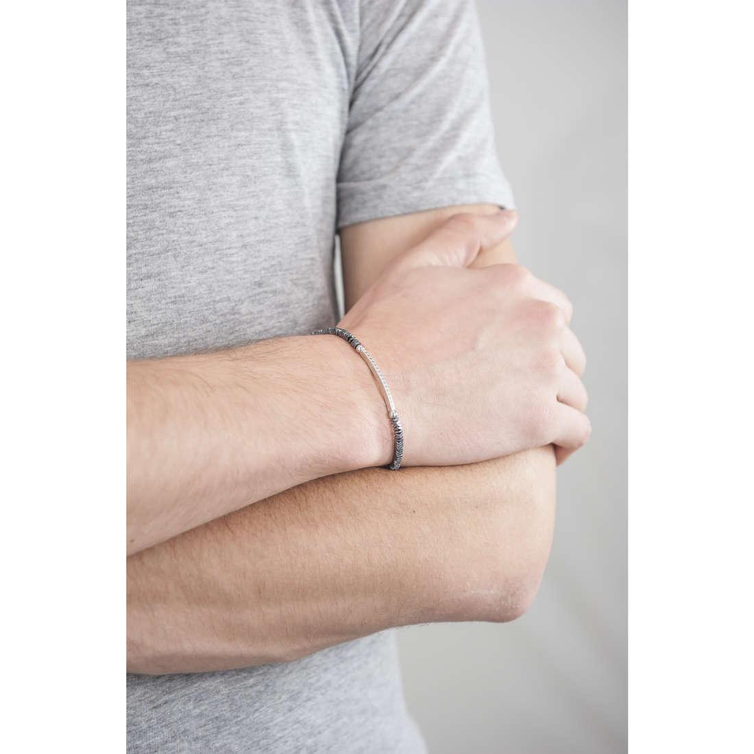 Morellato bracelets Ematite man SAHT03 indosso