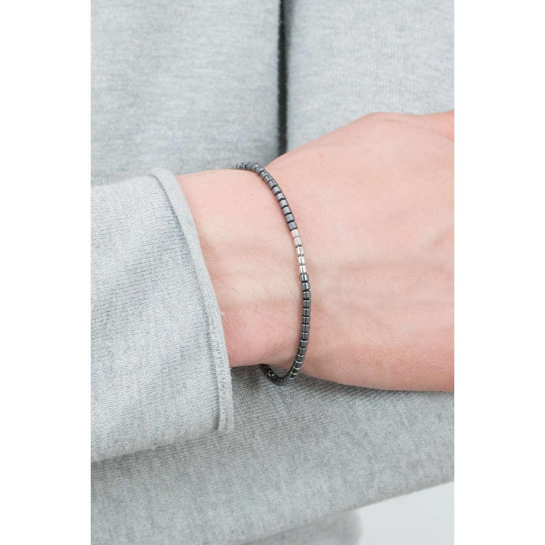 Morellato bracelets Ematite man SAHT09 indosso