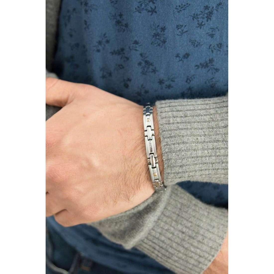 Sector bracelets Basic man SLI57 indosso
