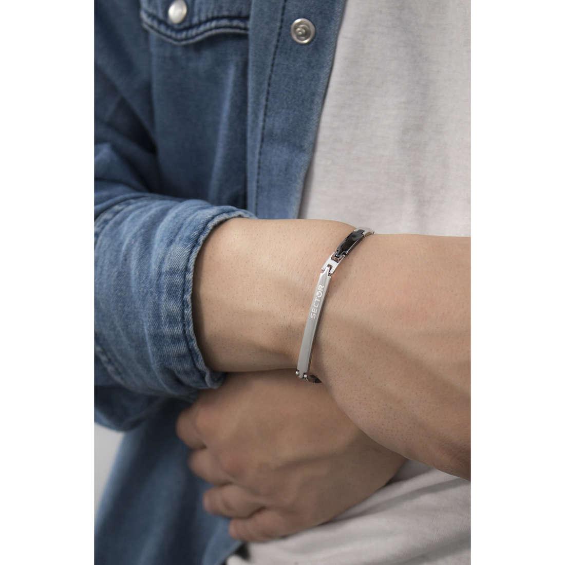 Sector bracelets Basic man SZS11 indosso