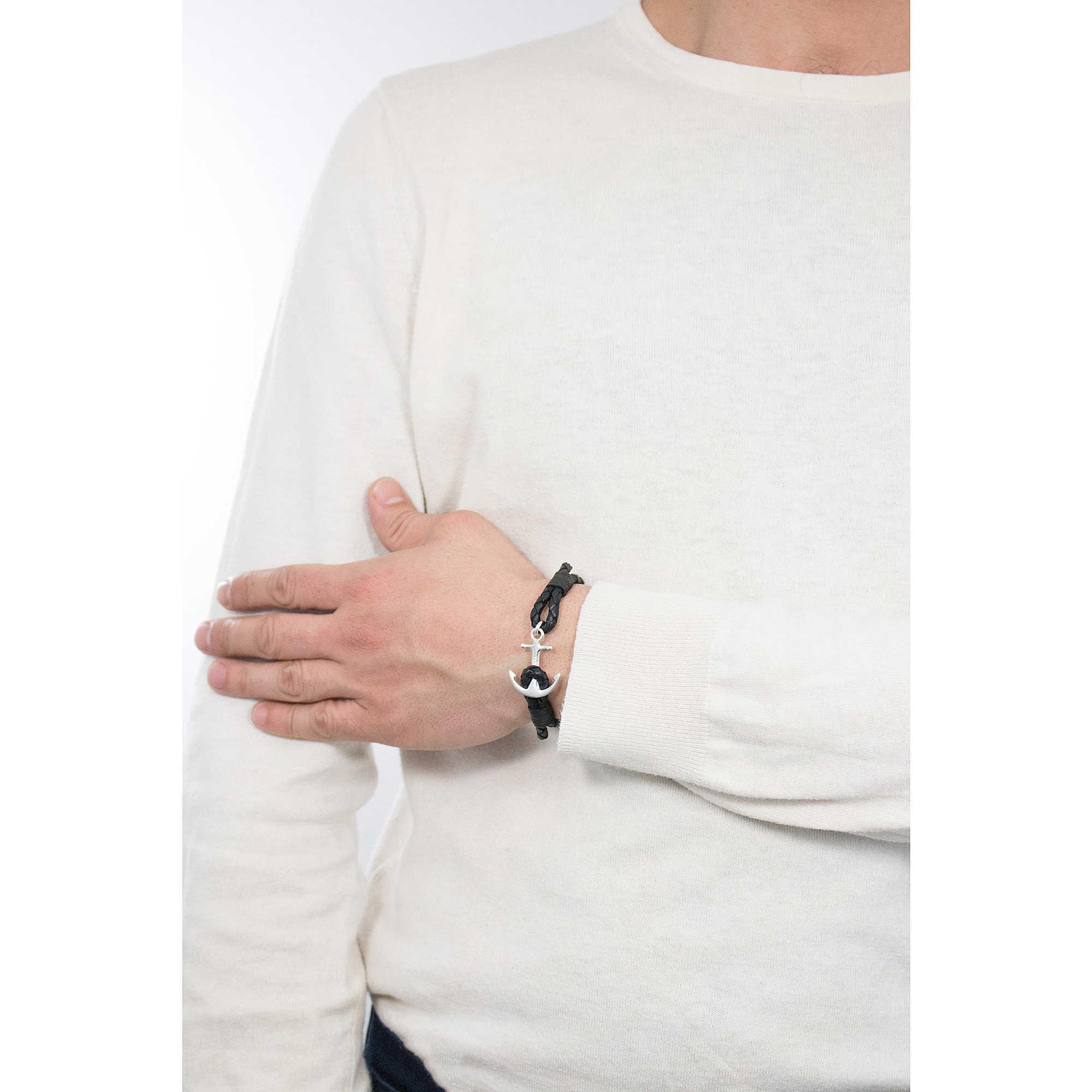 a9ef7f6ca491 bracelet man jewellery Tom Hope Jet Black TM0202 bracelets Tom Hope