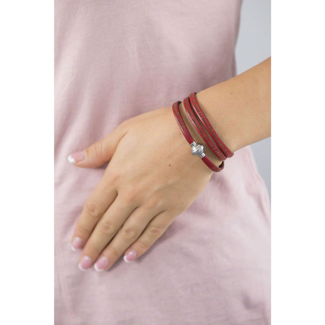 Amen bracelets Ave Maria Italiano woman AM-AMIT08-60 indosso