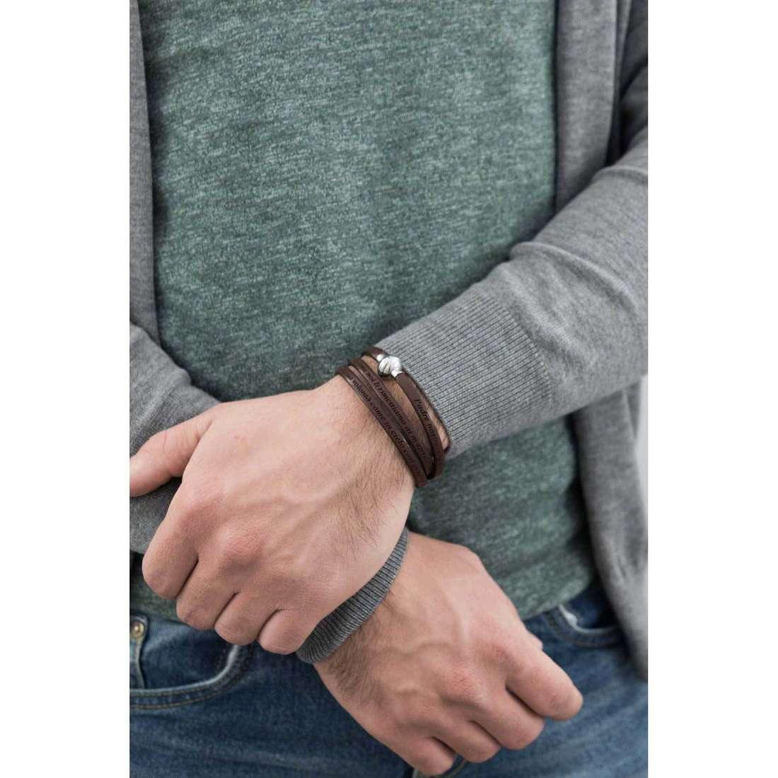 Sector bracelets Love and Love man SADO06 indosso