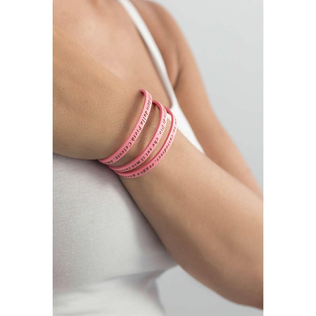 Amen bracelets Angelo Custode woman AJ-BR2495-48 indosso