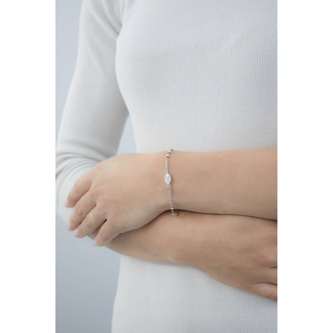 Amen bracelets Rosario woman BROB3 indosso