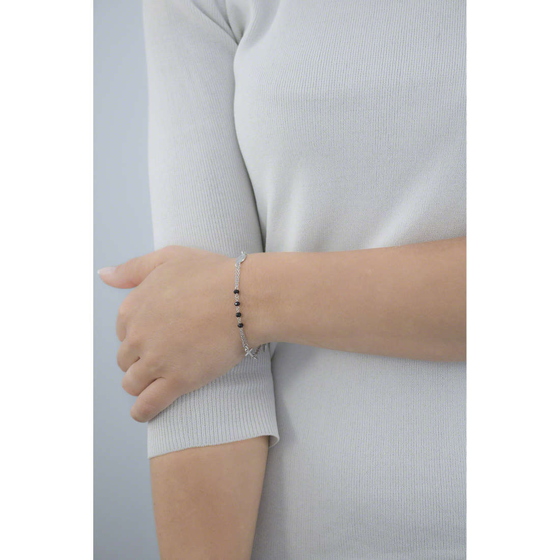 Amen bracelets Rosario woman BROBN3 indosso