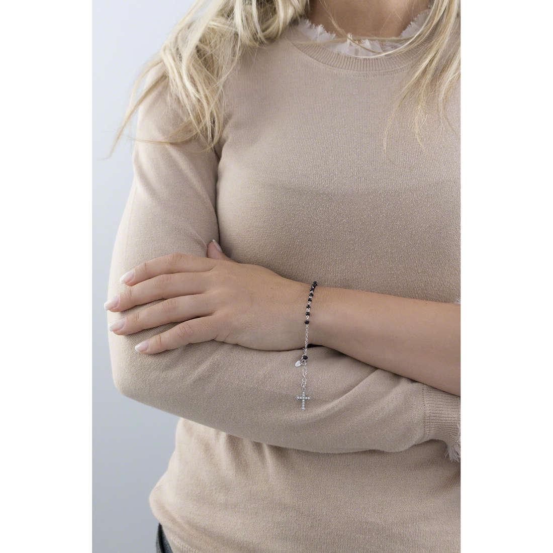 Amen bracelets Rosario woman BROBNZ4 indosso